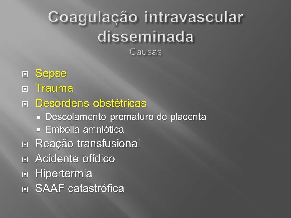 Coagulação intravascular disseminada Causas