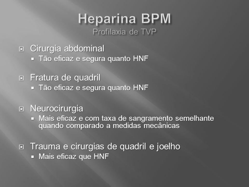 Heparina BPM Profilaxia de TVP
