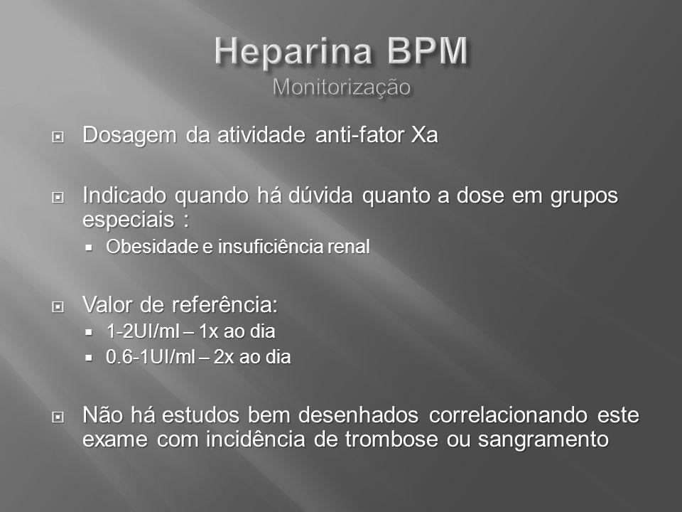 Heparina BPM Monitorização