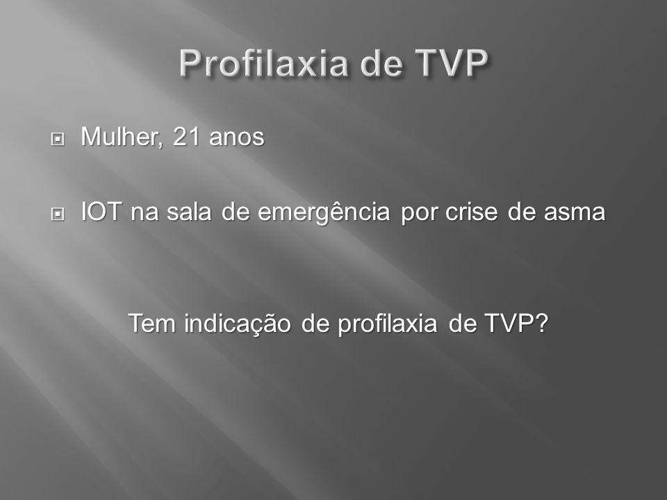 Tem indicação de profilaxia de TVP