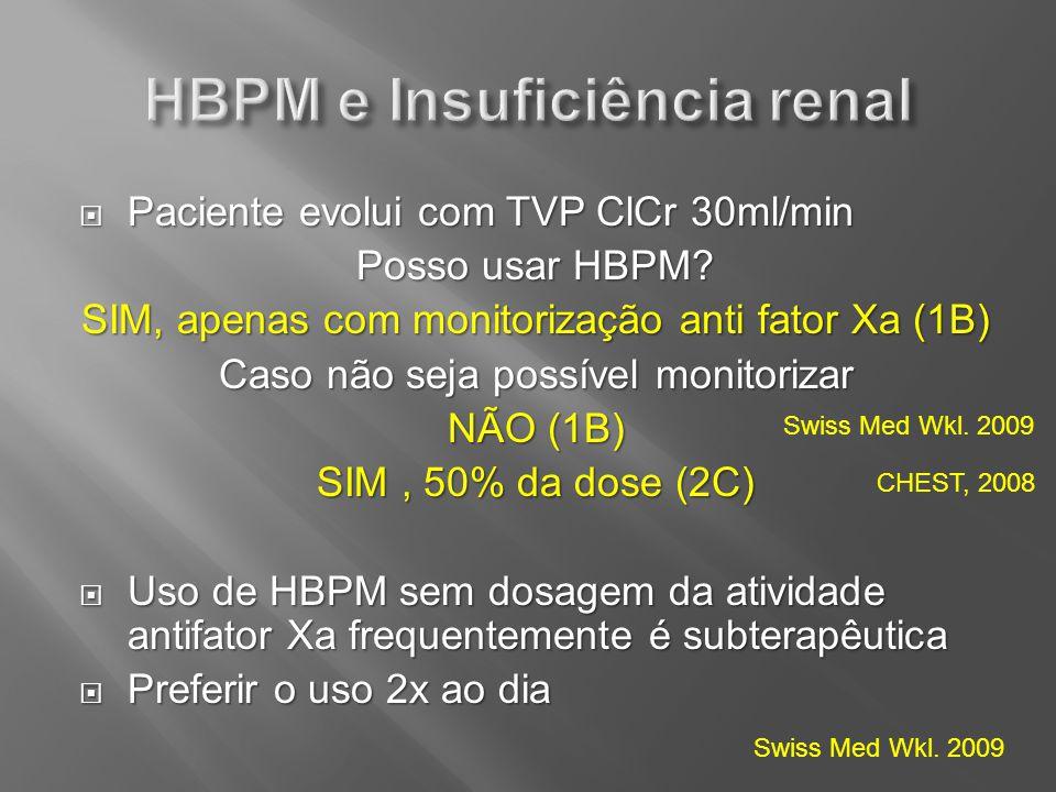 HBPM e Insuficiência renal