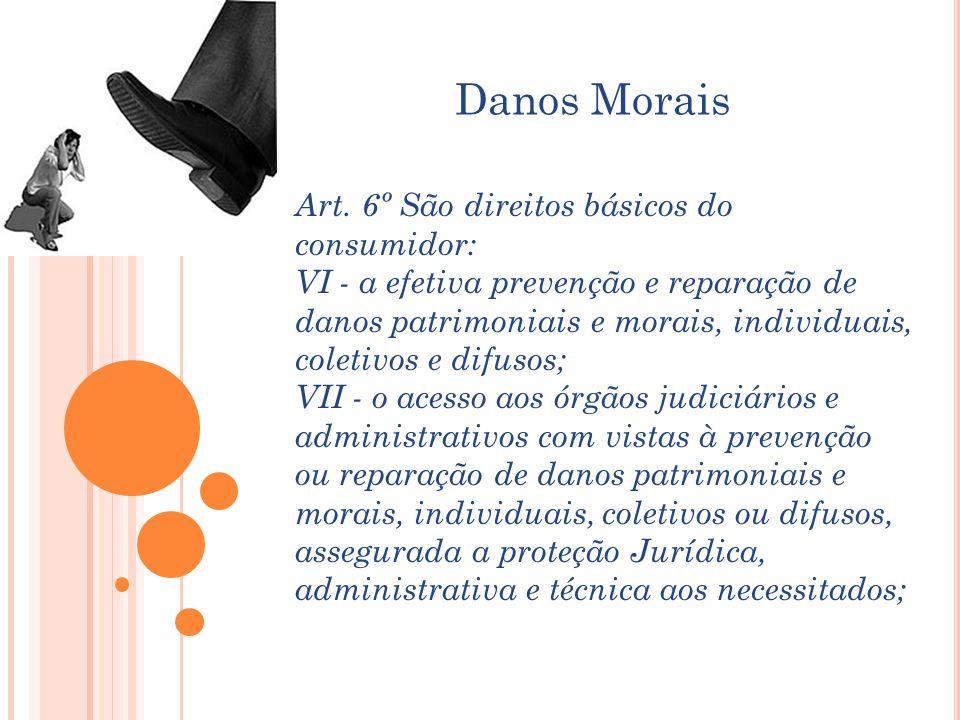 Danos Morais Art. 6º São direitos básicos do consumidor: