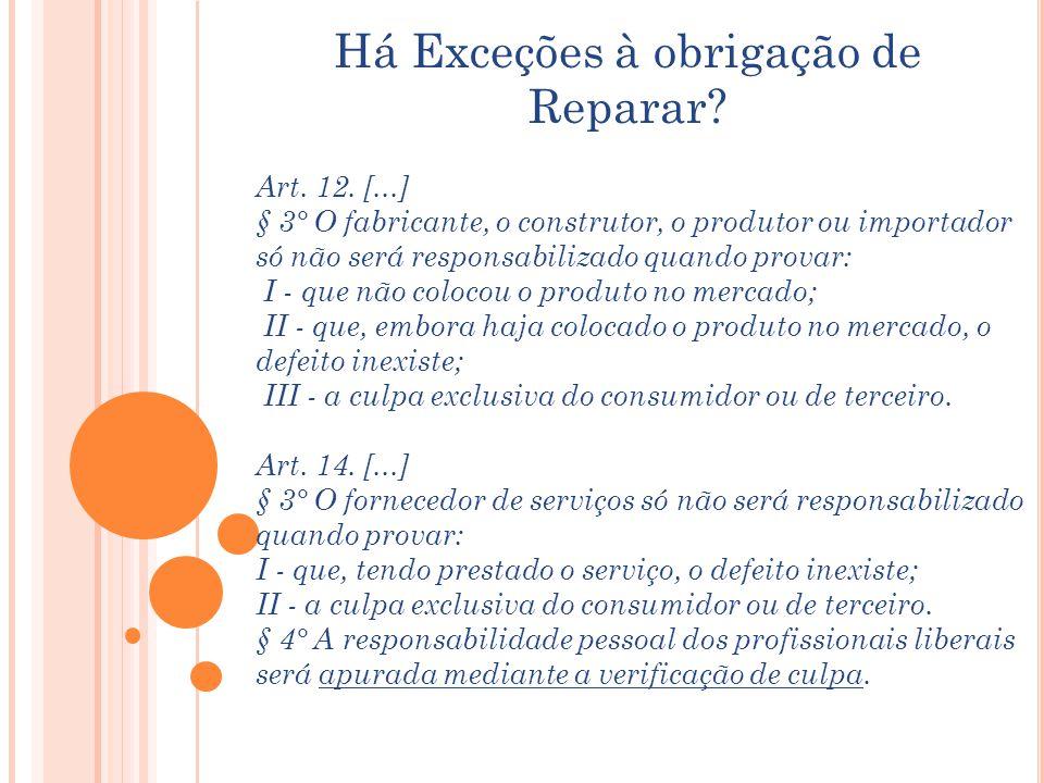 Há Exceções à obrigação de Reparar