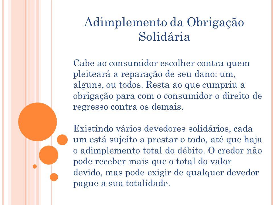 Adimplemento da Obrigação Solidária
