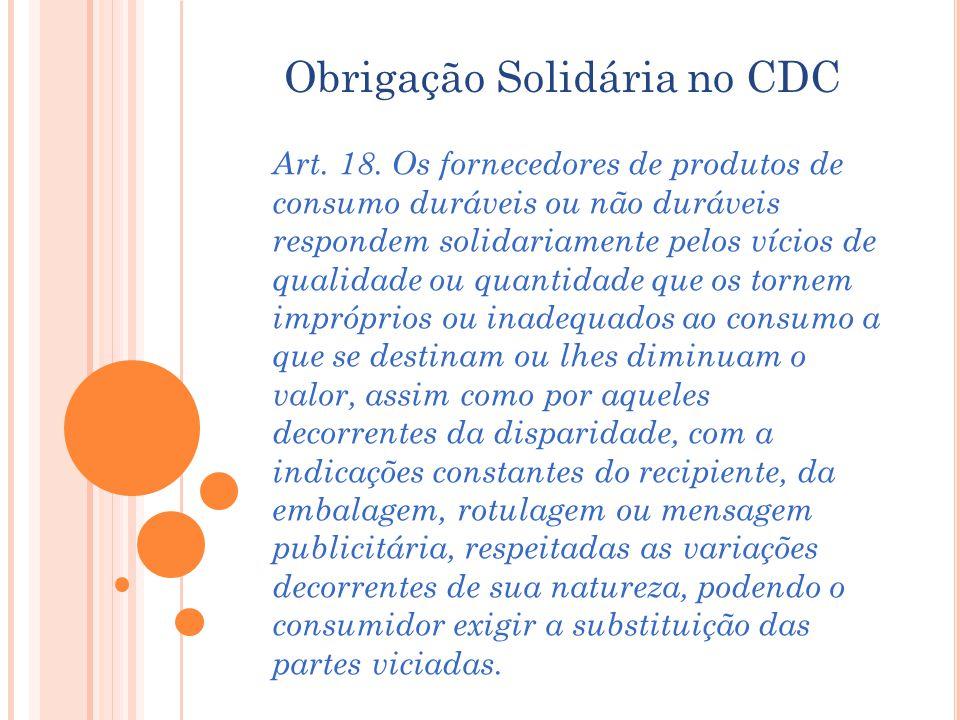 Obrigação Solidária no CDC