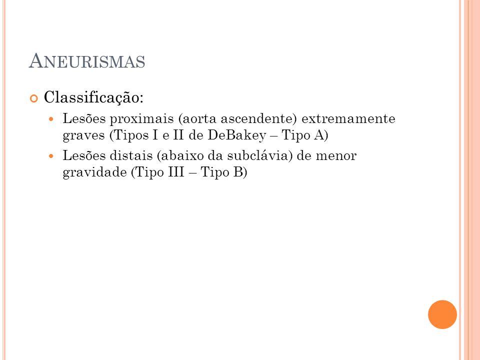 Aneurismas Classificação: