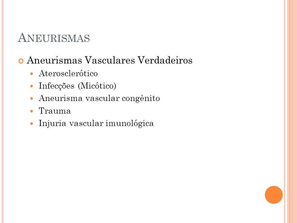 Aneurismas Aneurismas Vasculares Verdadeiros Aterosclerótico