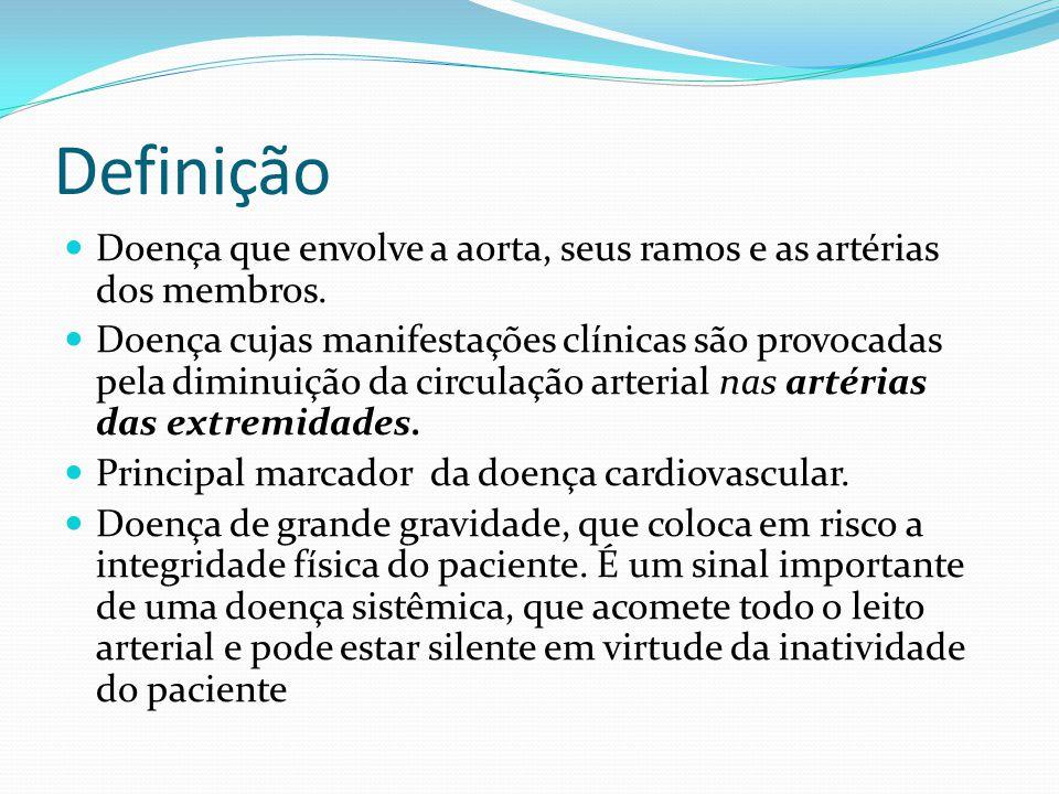 Definição Doença que envolve a aorta, seus ramos e as artérias dos membros.
