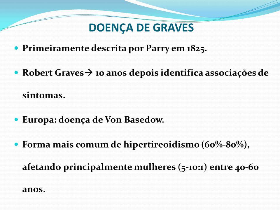 DOENÇA DE GRAVES Primeiramente descrita por Parry em 1825.