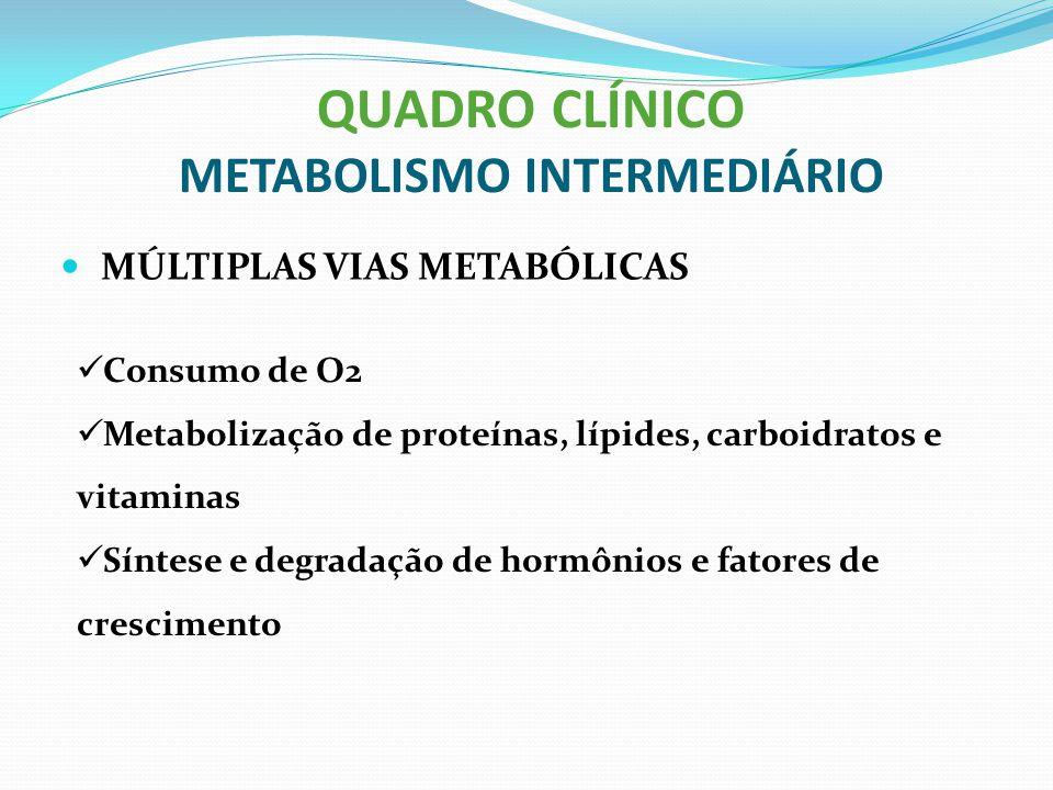 QUADRO CLÍNICO METABOLISMO INTERMEDIÁRIO