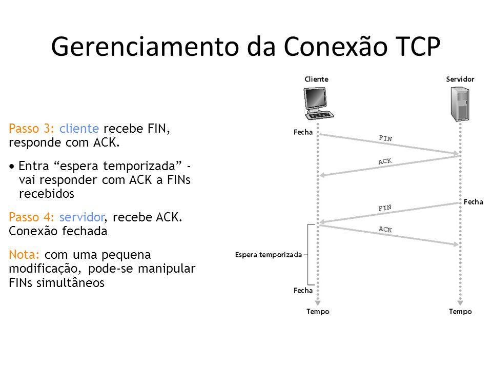Gerenciamento da Conexão TCP