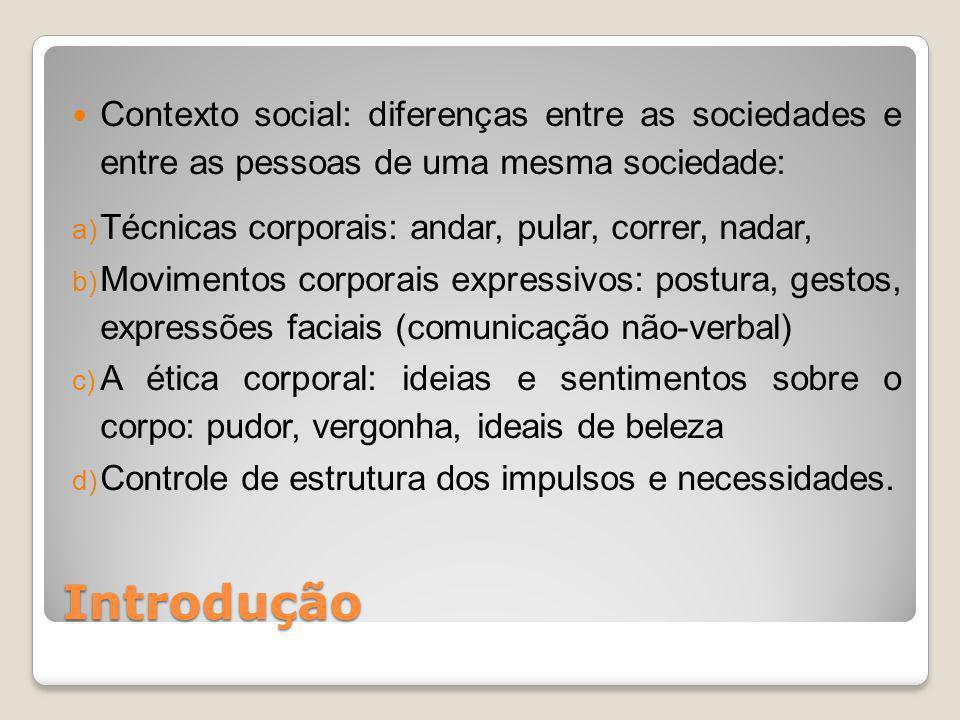 Contexto social: diferenças entre as sociedades e entre as pessoas de uma mesma sociedade:
