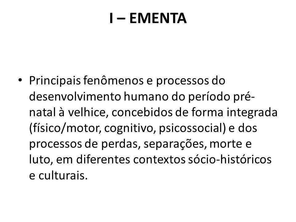I – EMENTA