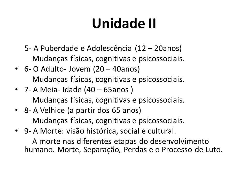 Unidade II 5- A Puberdade e Adolescência (12 – 20anos)