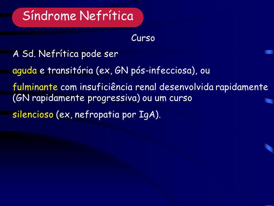 Síndrome Nefrítica Curso A Sd. Nefrítica pode ser
