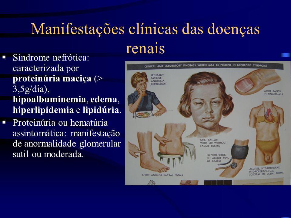 Manifestações clínicas das doenças renais