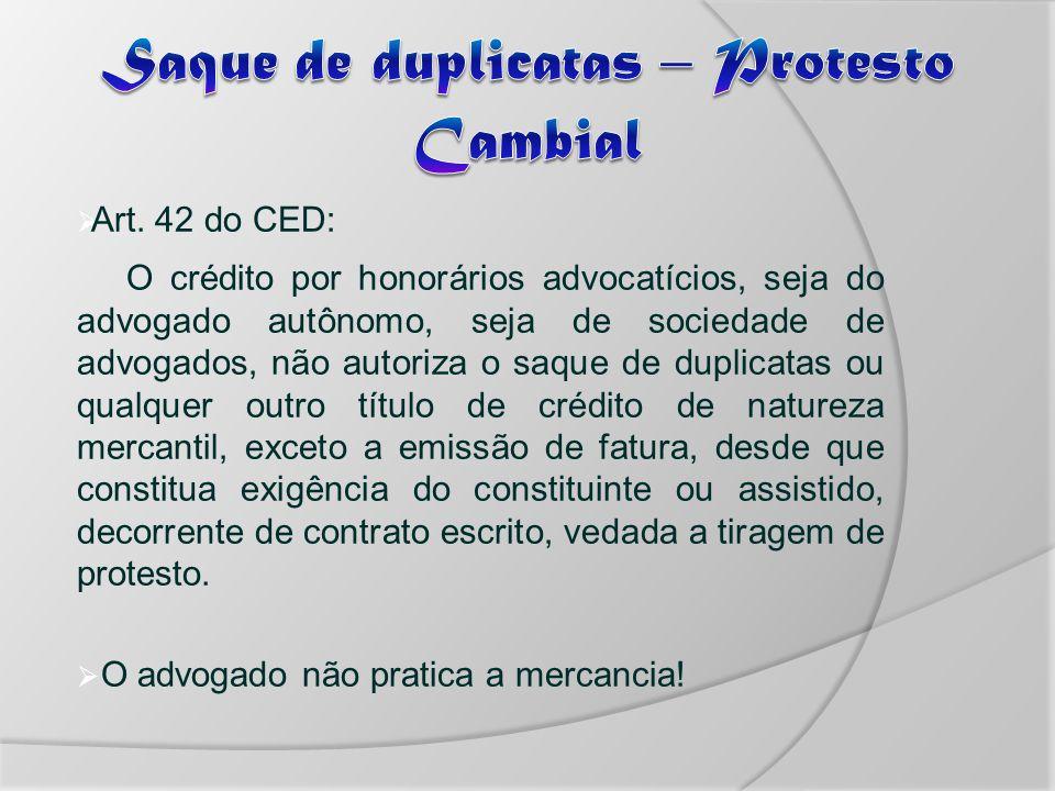 Saque de duplicatas – Protesto Cambial