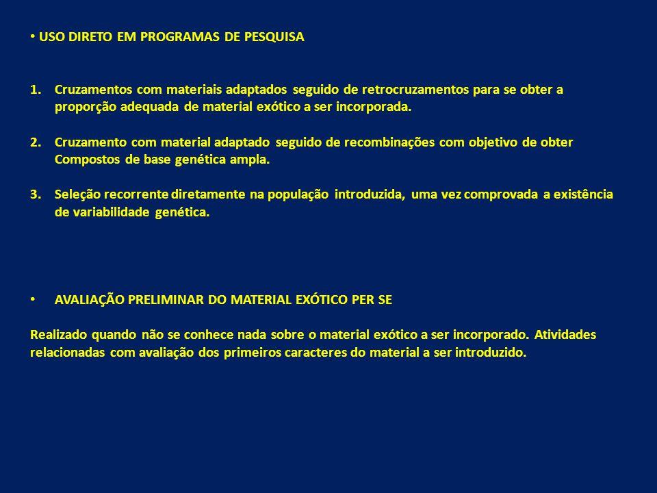 USO DIRETO EM PROGRAMAS DE PESQUISA
