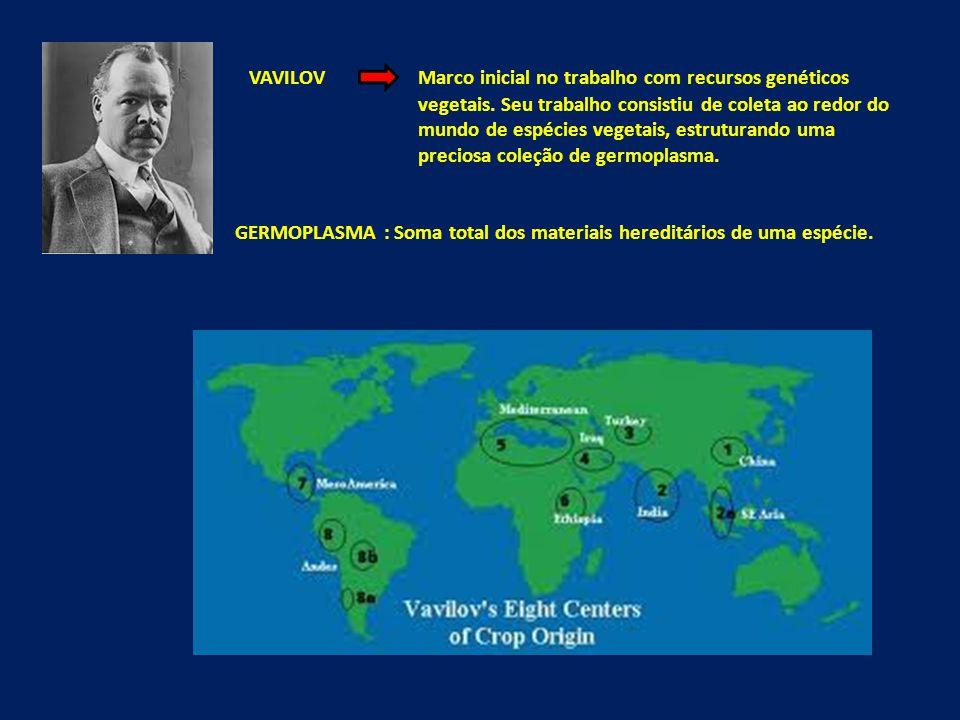 VAVILOV Marco inicial no trabalho com recursos genéticos