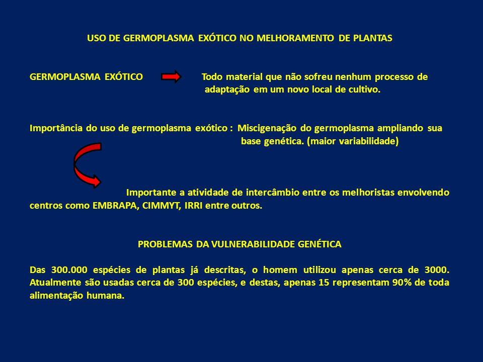 USO DE GERMOPLASMA EXÓTICO NO MELHORAMENTO DE PLANTAS
