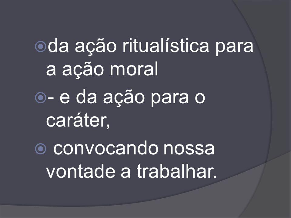 da ação ritualística para a ação moral