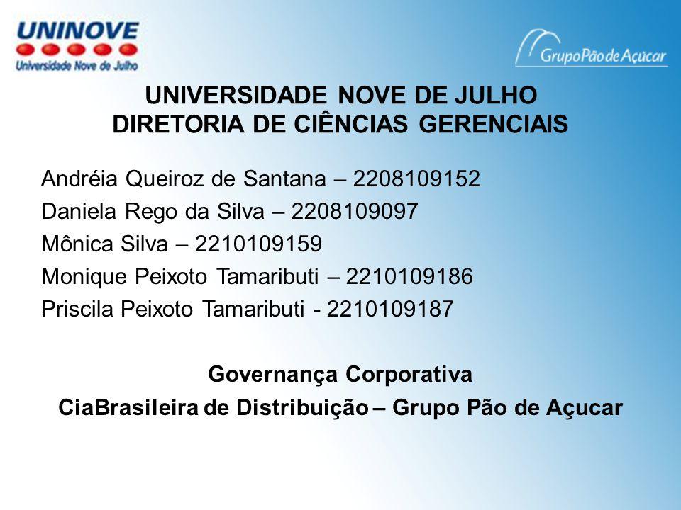 UNIVERSIDADE NOVE DE JULHO DIRETORIA DE CIÊNCIAS GERENCIAIS
