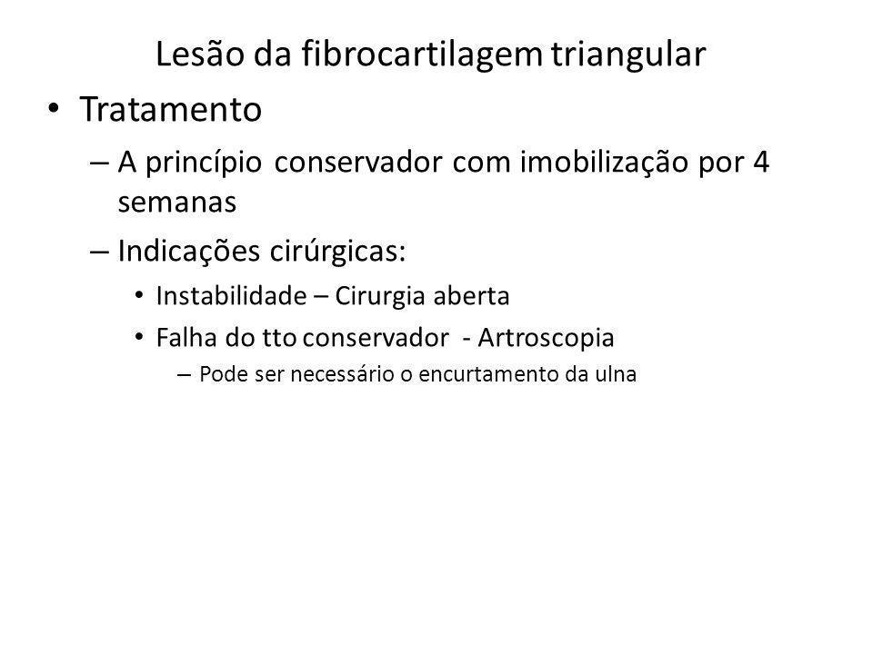 Lesão da fibrocartilagem triangular