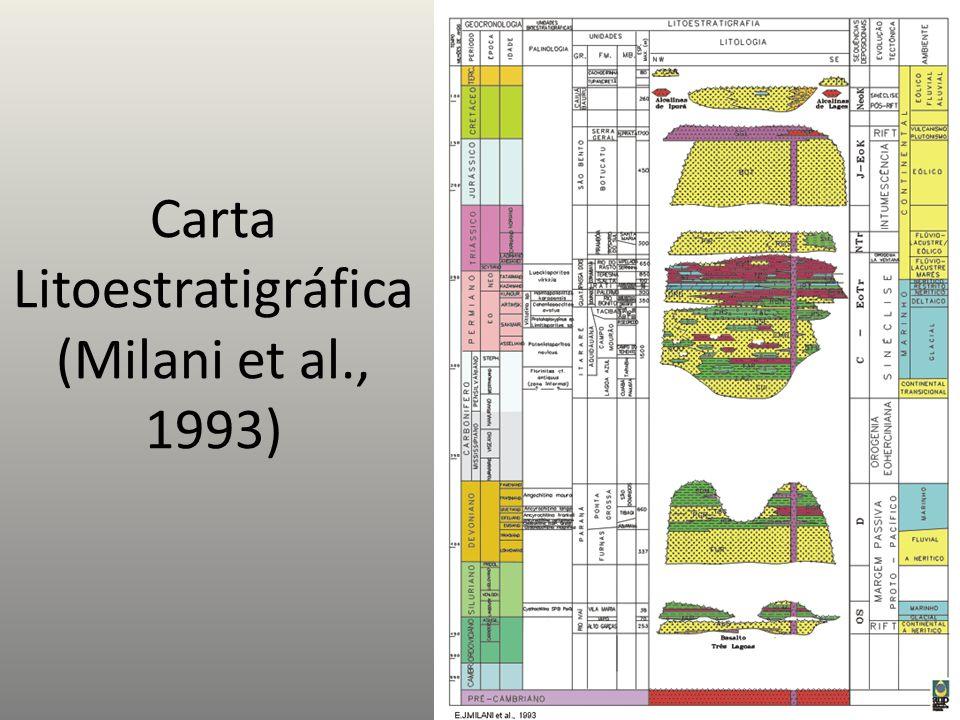 Carta Litoestratigráfica (Milani et al., 1993)