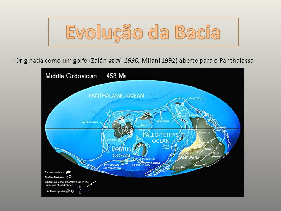 Evolução da Bacia Originada como um golfo (Zalán et al.