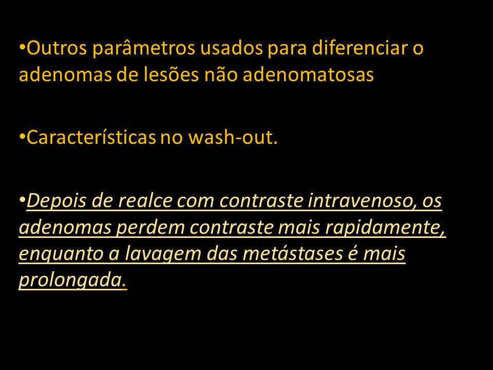 Outros parâmetros usados para diferenciar o adenomas de lesões não adenomatosas