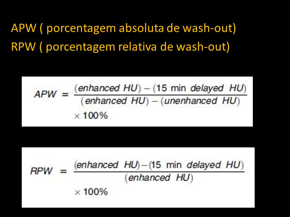 APW ( porcentagem absoluta de wash-out)