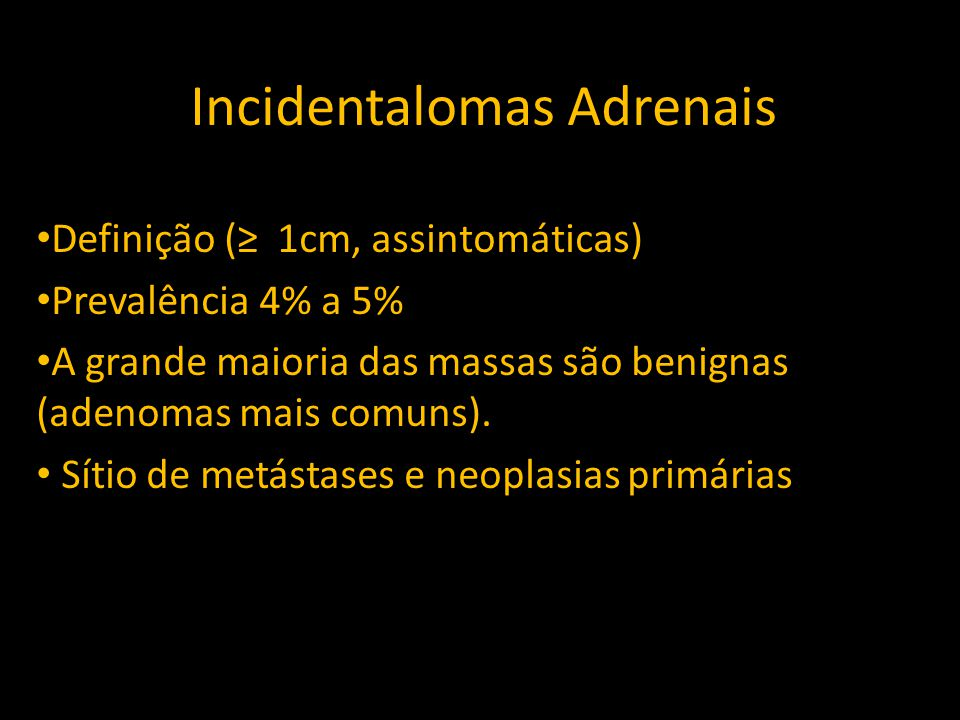 Incidentalomas Adrenais