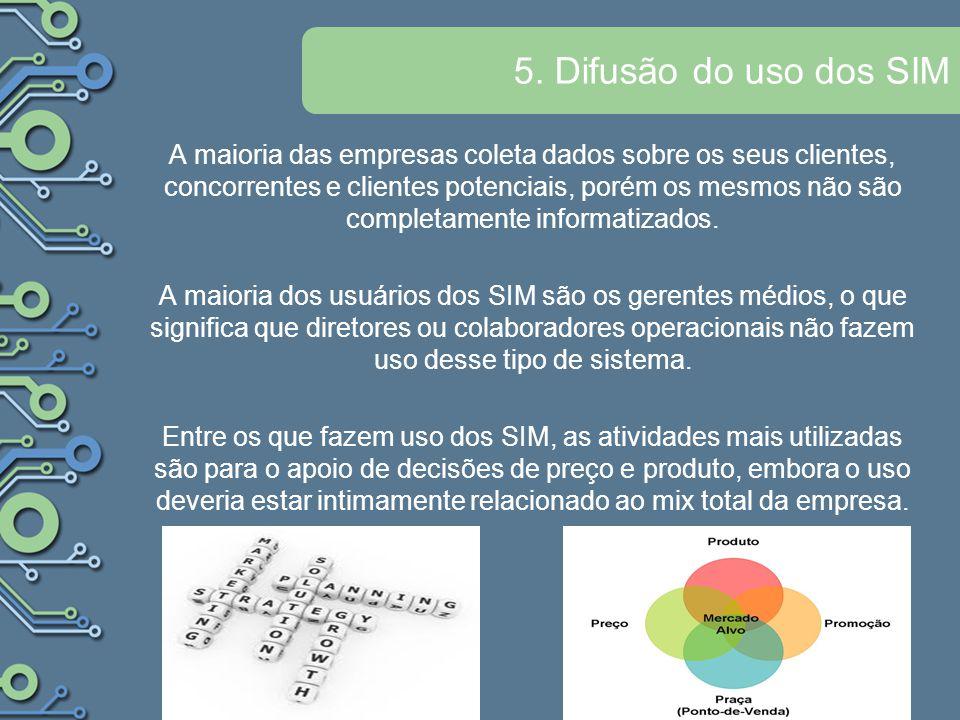 5. Difusão do uso dos SIM
