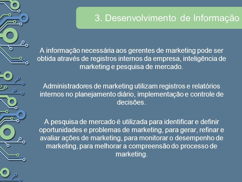 3. Desenvolvimento de Informação