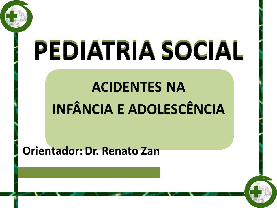 ACIDENTES NA INFÂNCIA E ADOLESCÊNCIA Orientador: Dr. Renato Zan