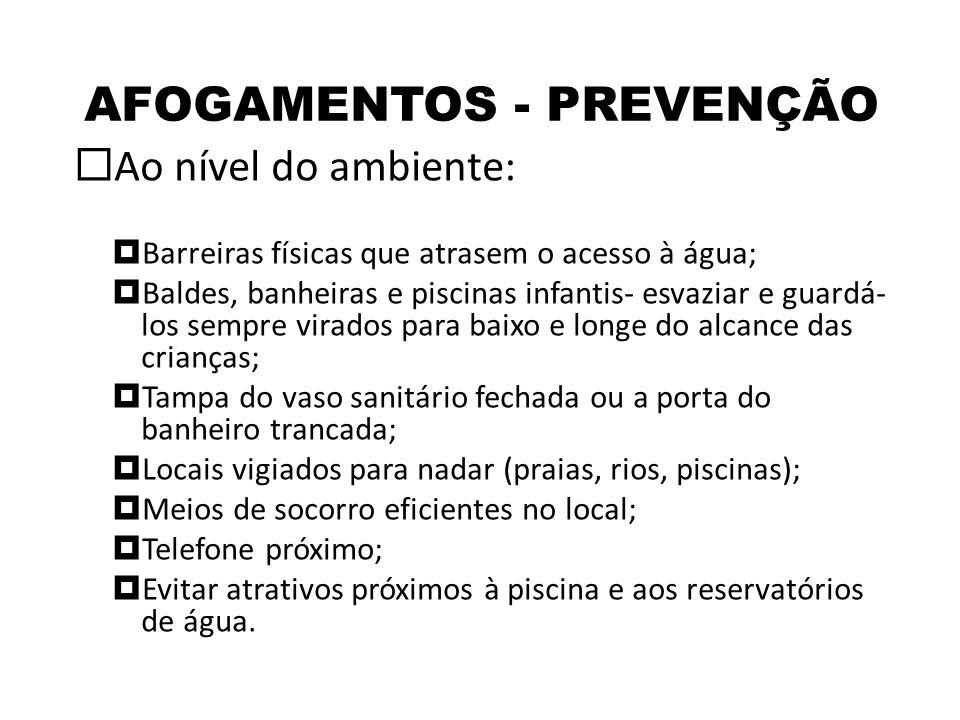 AFOGAMENTOS - PREVENÇÃO