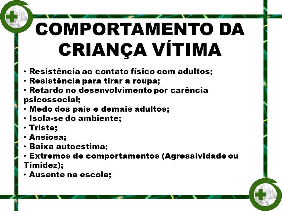 COMPORTAMENTO DA CRIANÇA VÍTIMA