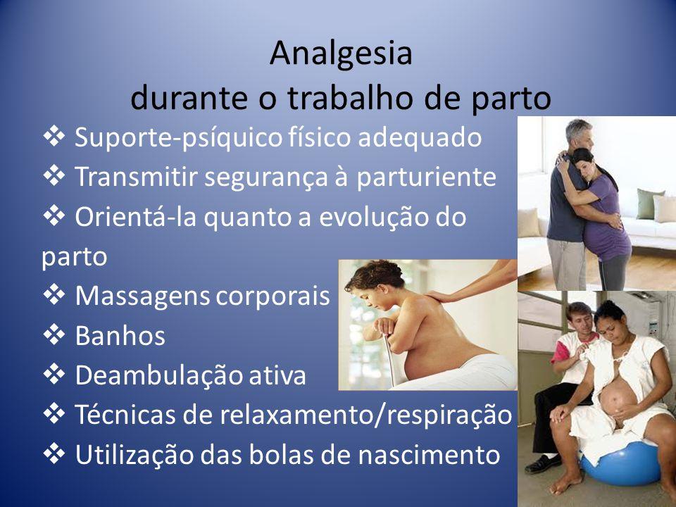 Analgesia durante o trabalho de parto