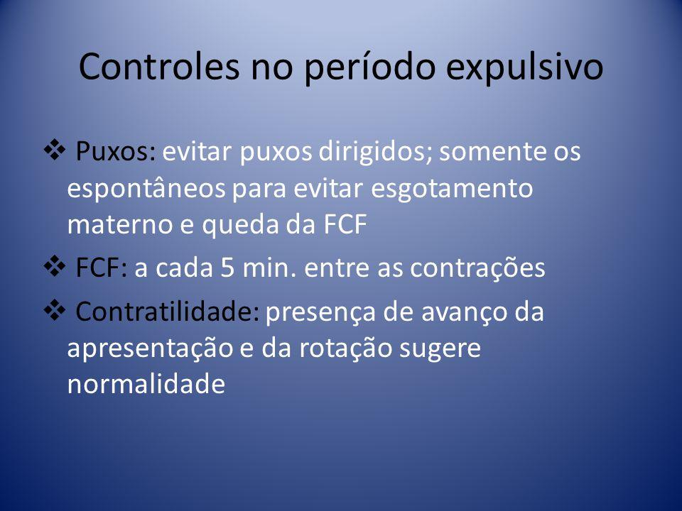 Controles no período expulsivo