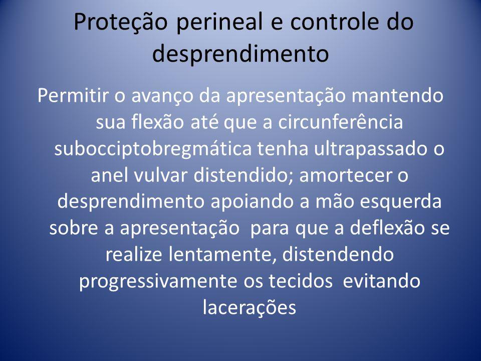 Proteção perineal e controle do desprendimento