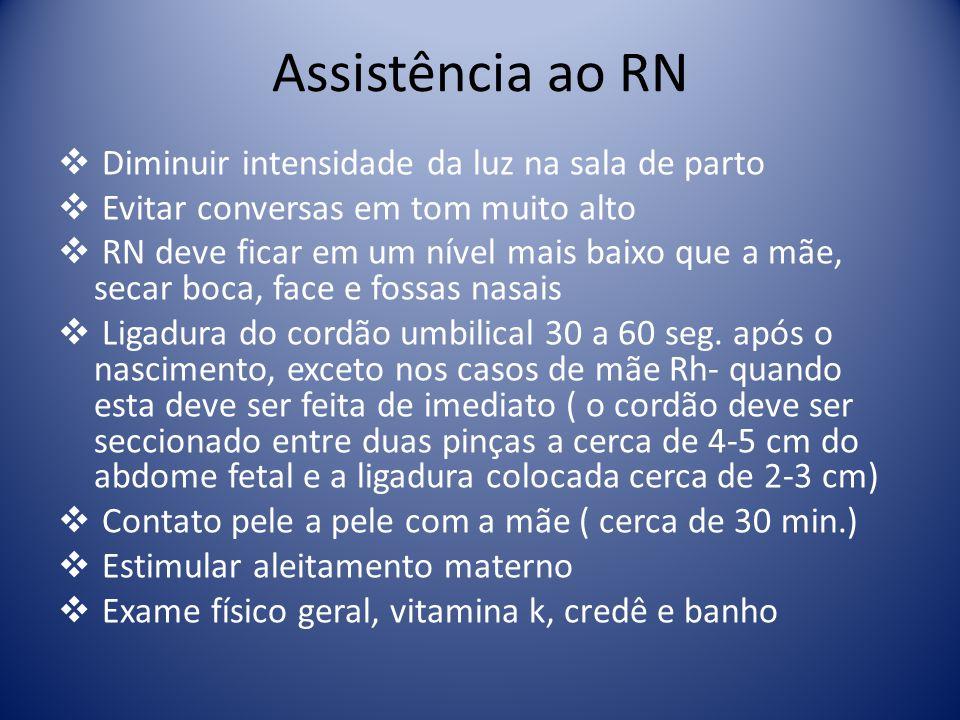 Assistência ao RN Diminuir intensidade da luz na sala de parto