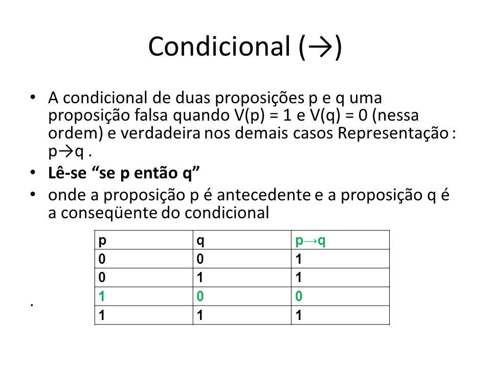 Condicional (→)