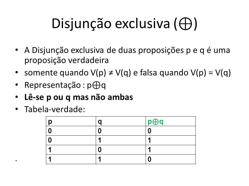 Disjunção exclusiva (⊕)