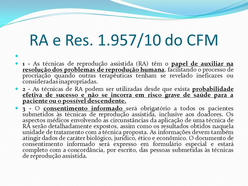 RA e Res. 1.957/10 do CFM