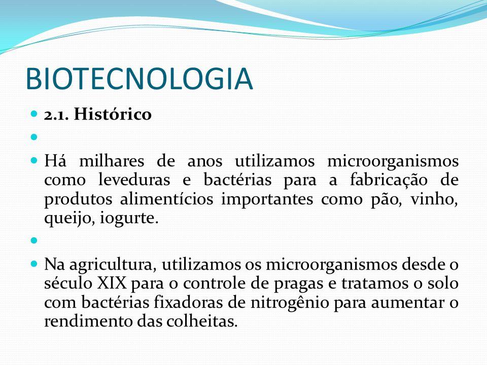 BIOTECNOLOGIA 2.1. Histórico