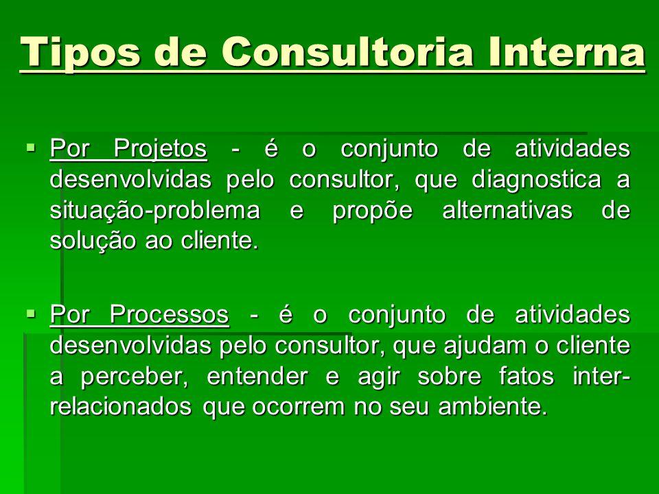 Tipos de Consultoria Interna
