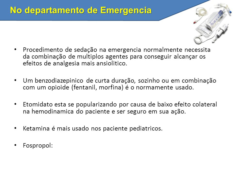 No departamento de Emergencia