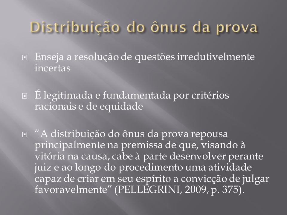 Distribuição do ônus da prova
