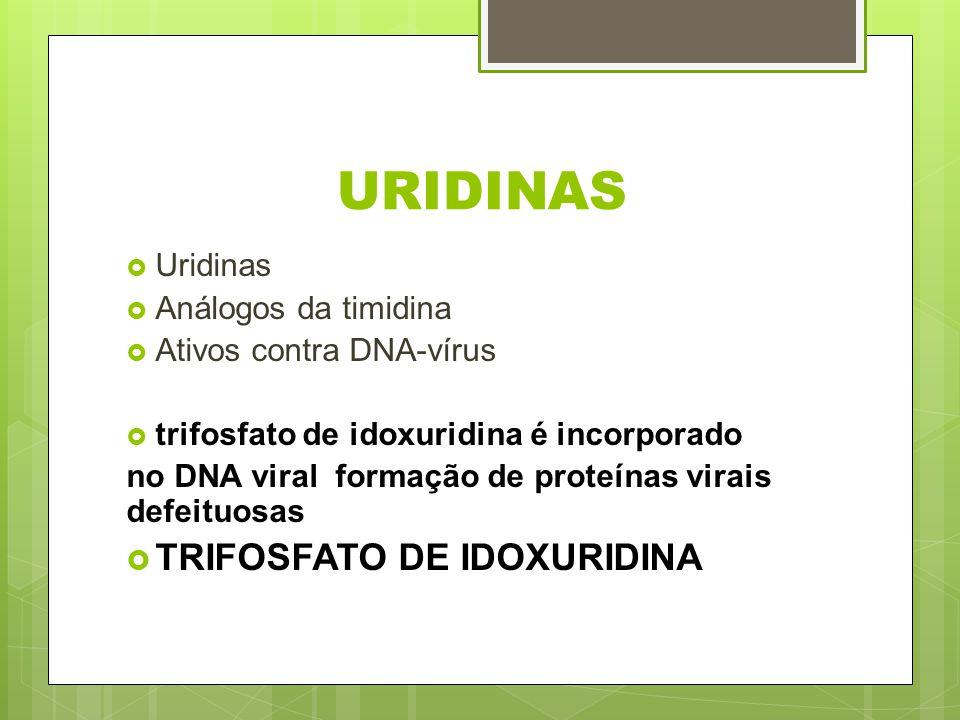 URIDINAS TRIFOSFATO DE IDOXURIDINA Uridinas Análogos da timidina