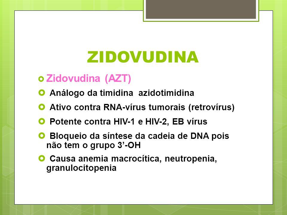 ZIDOVUDINA Análogo da timidina azidotimidina